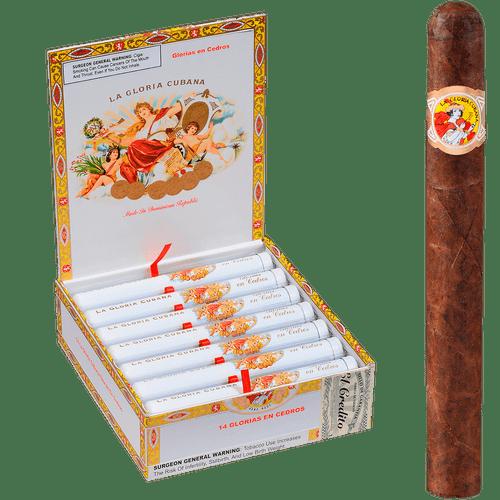 La Gloria Cubana Cigars En Cedros Natural Tubes 14 Ct. Box 6.75X48