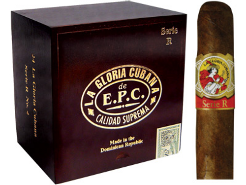 La Gloria Cubana Cigars Serie R No. 4 Natural (No Cello) 24 Ct. Box 4.88X52