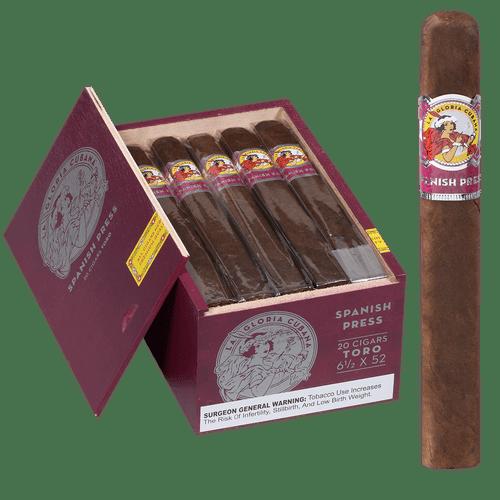La Gloria Cubana Cigars Spanish Press Toro 20 Ct. Box 6.50x52