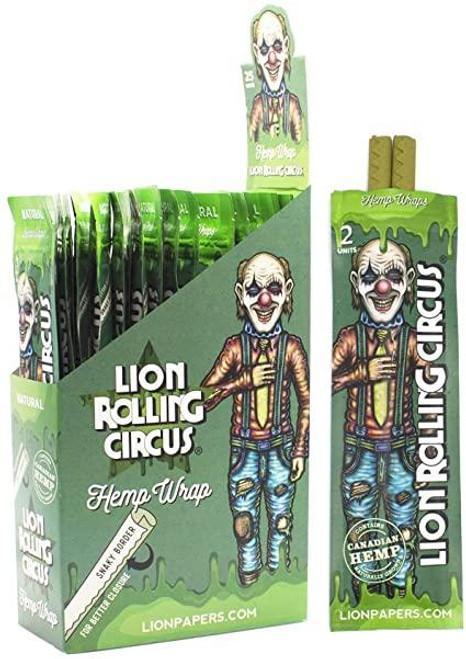 Lion Rolling Circus Hemp Wraps Natural 25/2