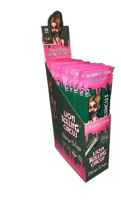 Lion Rolling Circus Hemp Wraps Bubble Gum 25/2