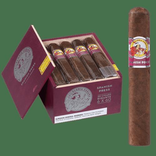 La Gloria Cubana Cigars Spanish Press Gigante 20 Ct. Box 6.00x60