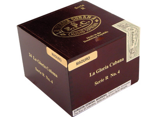 La Gloria Cubana Cigars Serie R No. 4 Maduro (No Cello) 24 Ct. Box 4.88X52