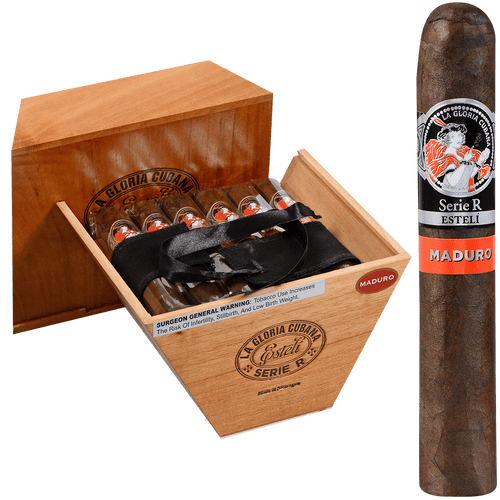 La Gloria Cubana Cigars Serie R Esteli Maduro No. Sixty-Four 18 Ct. Box 6.25X64