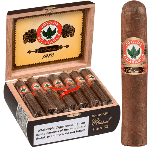 Joya De Nicaragua Cigars Antano 1970 Consul 20 Ct. Box 4.50X52