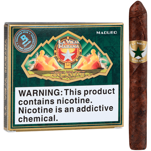 La Vieja Habana Cigars Bomberito Maduro 5/10 Tins 4.00x32