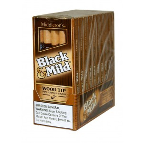 Black & Mild Wood Tip Cigars Pack