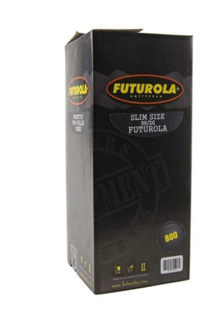 Futurola Cones Slim Size Classic White - 800ct