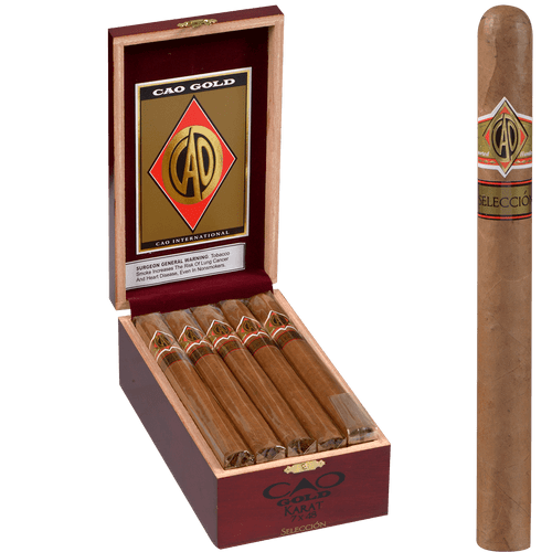 CAO Cigars Gold Seleccion Karat 15 Ct. Box 7.00X48
