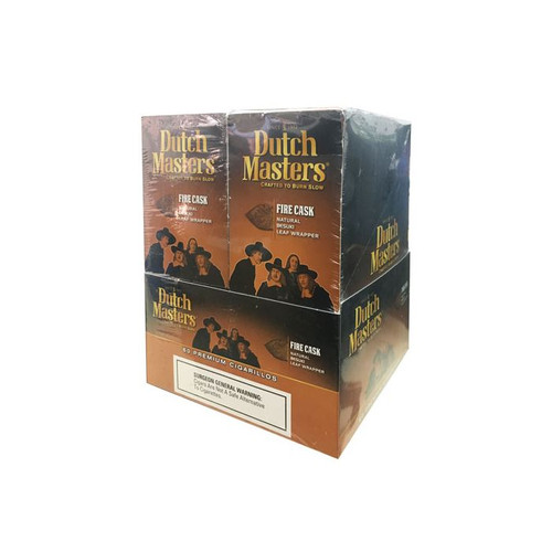 Dutch Masters Cigarillos Fire Cask Foil 20 Pouches of 3