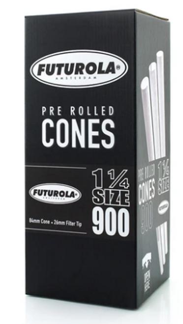 Futurola Cones Classic White Non-Printed Tip 1 1/4 Size 900 Ct