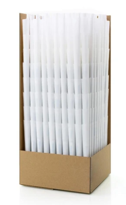 Futurola Pre-Rolled Straight Cone 1 1/4  Classic White  900 Ct
