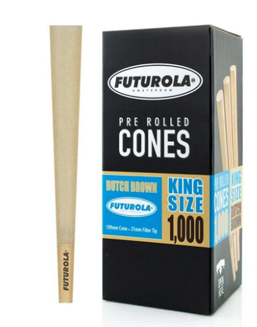 Futurola Cones  King Size  Dutch Brown  1000ct