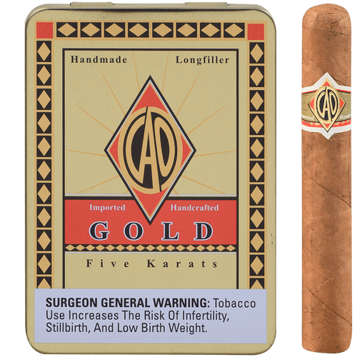 CAO Cigars Gold Label Karats 10/5 Tins 4.00X38