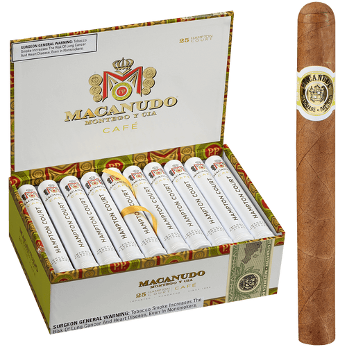 Macanudo Cigars Cafe Hampton Court Tubos 25 Ct. Box 5.50X42