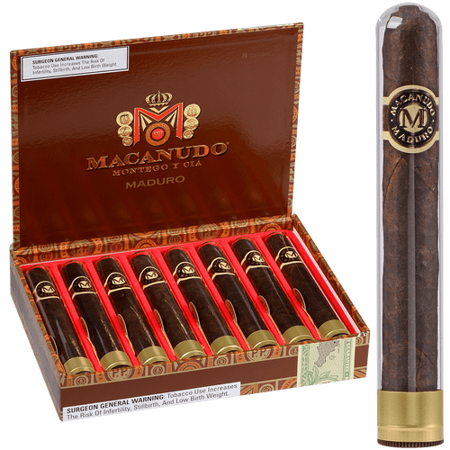 Macanudo Cigars Maduro Crystal Tubos 8 Ct. Box 5.50X50