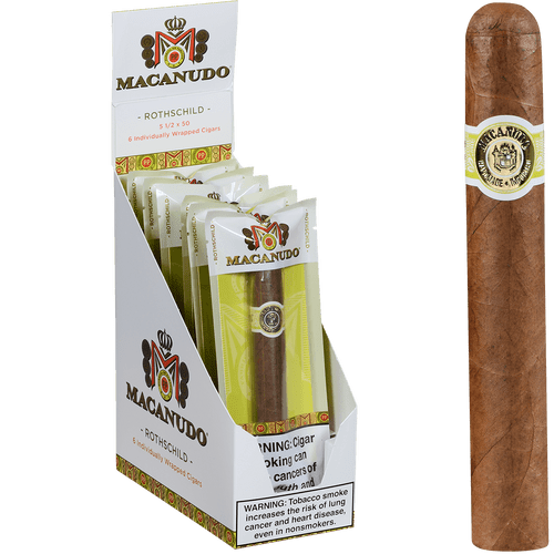 Macanudo Cigars Cafe Freshness Pack Rothschild 6 Ct. Box 5.50x50