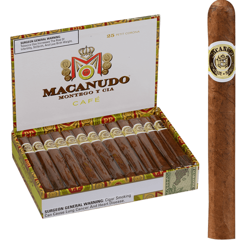 Macanudo Cigars Cafe Petit Corona 25 Ct. Box 5.00X38