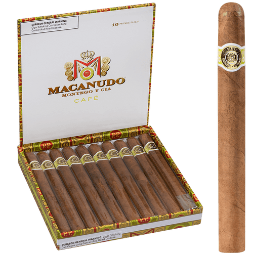 Macanudo Cigars Cafe Prince Philip 10 Ct. Box 7.50X49