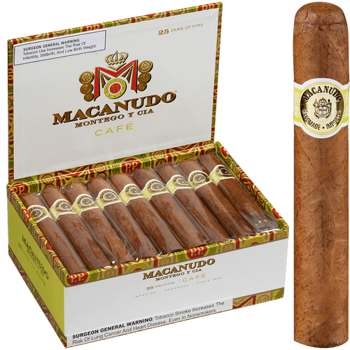 Macanudo Cigars Cafe Duke Of York 25 Ct. Box 5.25X54