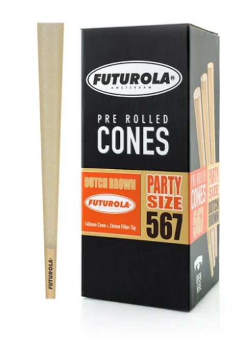 Futurola Cones Party Size Dutch Brown  567ct