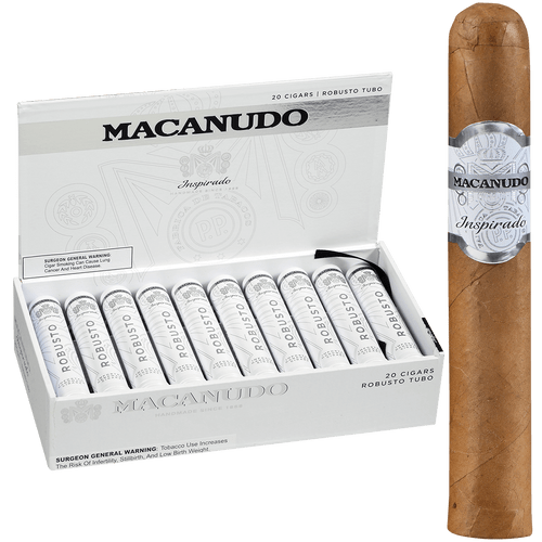 Macanudo Cigars Inspirado White Tubo 20 Ct. Box 5.00X50