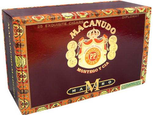 Macanudo Cigars Maduro Diplomat 25 Ct. Box 4.50X38/60/44