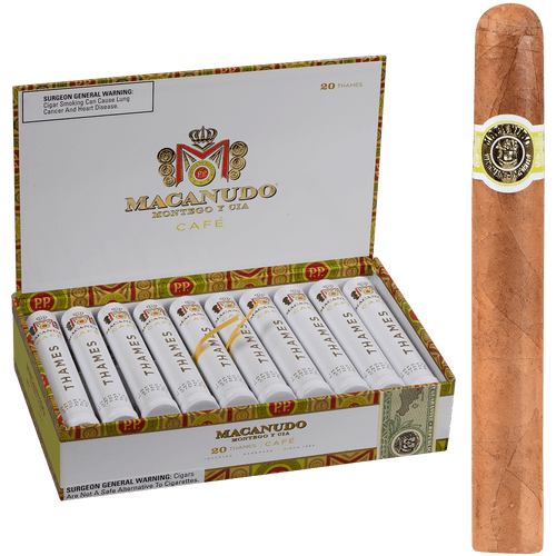 Macanudo Cigars Cafe Thames Tubos 20 Ct. Box 6.00X50