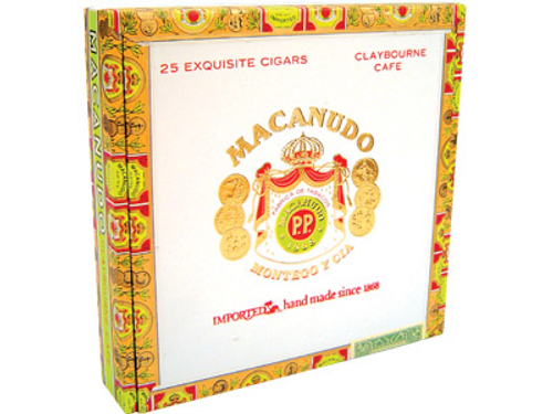 Macanudo Cigars Cafe Claybourne 25 Ct. Box 6.00X31