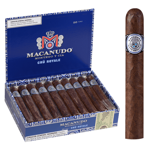 Macanudo Cigars Cru Royale Toro 20 Ct. Box 6.00X54