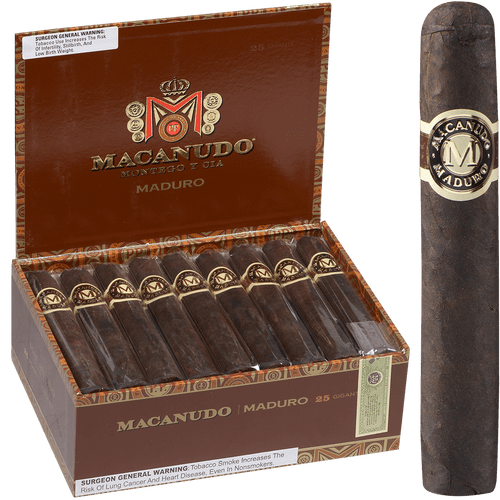 Macanudo Cigars Maduro Gigante 25 Ct. Box 6.00X60