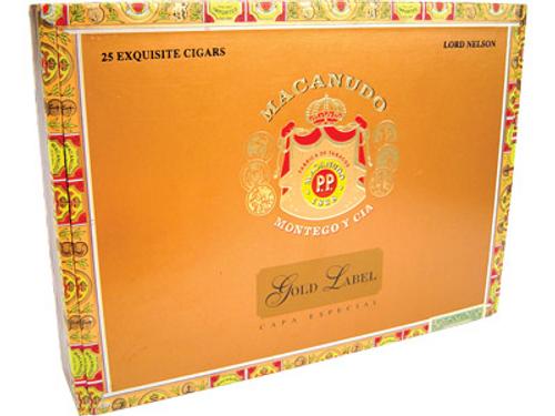Macanudo Cigars Gold Label Hampton Court Tube 25 Ct. Box 5.25X54