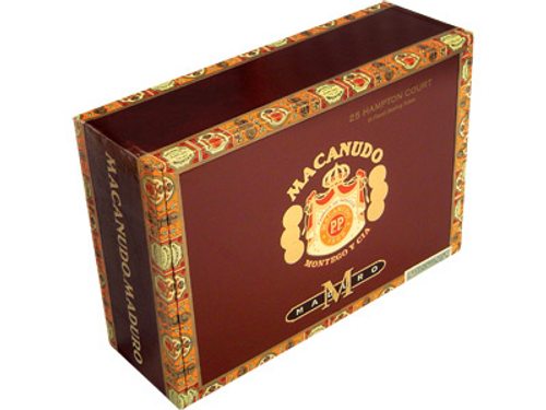 Macanudo Cigars Maduro Hampton Court Tubos 25 Ct. Box 5.50X42