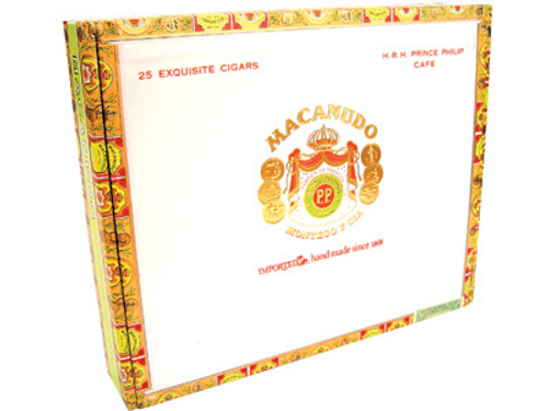 Macanudo Cigars Cafe Prince Philip 25 Ct. Box 7.50X49