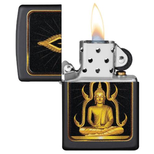Zippo Buddah Black Matte Lighter
