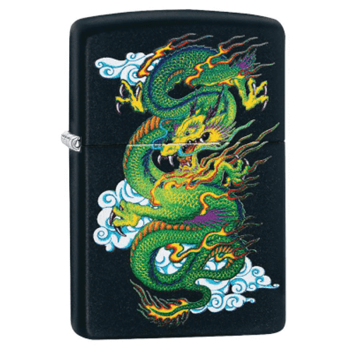 Zippo Dragon Black Matte Lighter