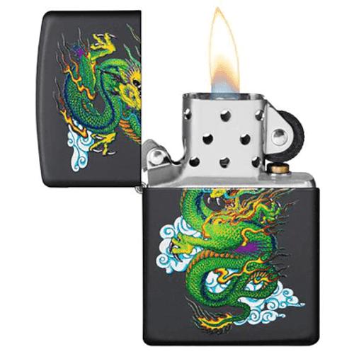 Zippo Dragon Black Matte Lighter