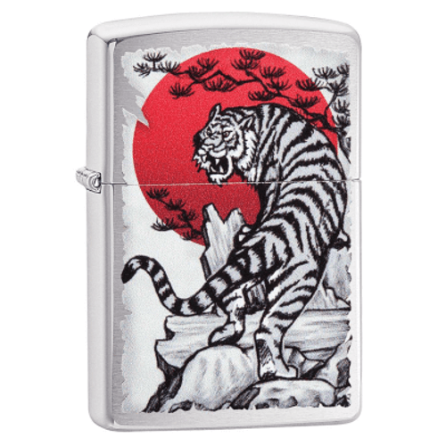 Zippo Asian Tiger Chrome Lighter