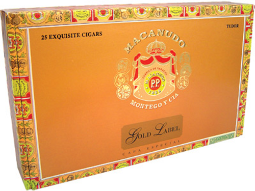 Macanudo Cigars Gold Label Tudor 25 Ct. Box 6.00X52