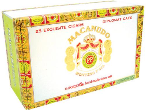Macanudo Cigars Cafe Diplomat 25 Ct. Box 4.50X38/60/44