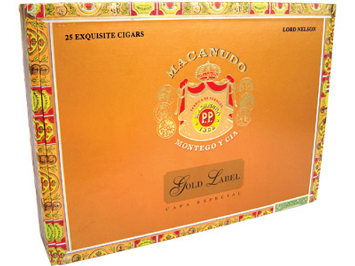 Macanudo Cigars Gold Label Lord Nelson 25 Ct. Box 7.00X49