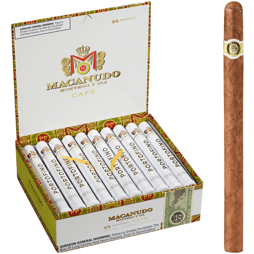 Macanudo Cigars Cafe Portofino Tubos 25 Ct. Box 7.00X34