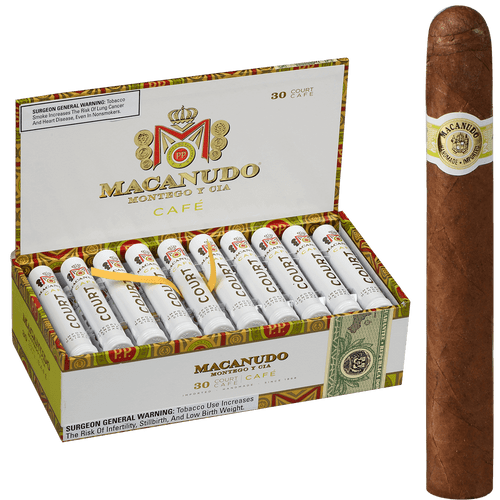 Macanudo Cigars Cafe Court Tubos 30 Ct. Box 4.19X36