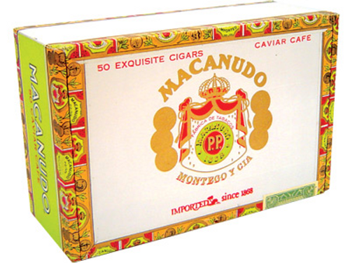 Macanudo Cigars Cafe Caviar 50 Ct. Box 4.00X36