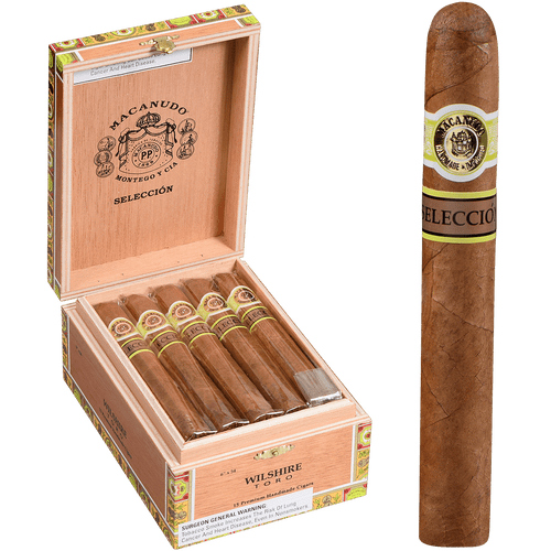 Macanudo Cigars Cafe Seleccion Wilshire Toro 15 Ct. Box 6.00X54
