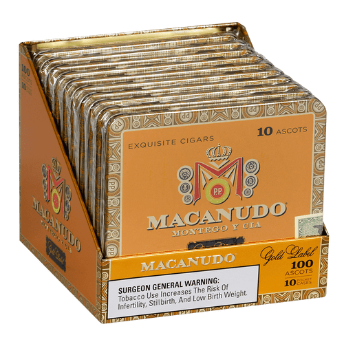 Macanudo Cigars Gold Label Ascots 10/10 Tins 4.19X32