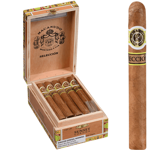 Macanudo Cigars Cafe Seleccion Sunset Corona 15 Ct.Box 5.50X40