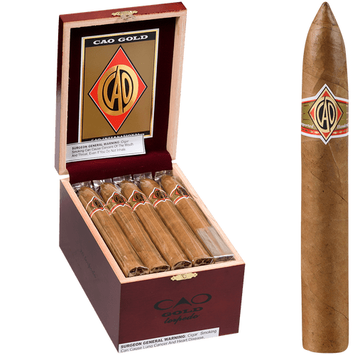 CAO Cigars Gold Label Torpedo 20 Ct. Box 6.25X52