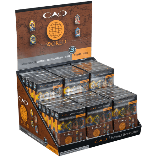 CAO Cigars World B3G1F Sampler 30/4 Ct. Display