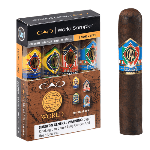 CAO Cigars World B3G1F 4 Ct. Sampler